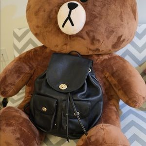 Coach Pebble Leather Turnlock Backpack